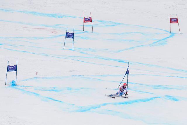 Ski alpin, slalom géant dames, Ofterschwang [Jean-Christophe Bott - Keystone]