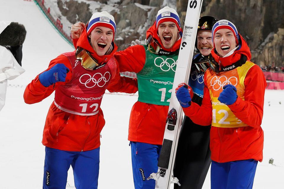 Les Norvégiens laissent éclater leur joie. [Odd Andersen - AFP]