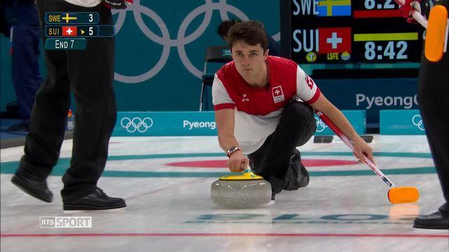 JO - Curling: l'équipe de Suisse masculine remporte le duel face à la Suède [RTS]