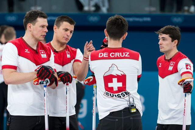 L'équipe suisse a manqué de peu sa qualification pour les demi-finales du tournoi de curling. [Alexandra Wey - Keystone]