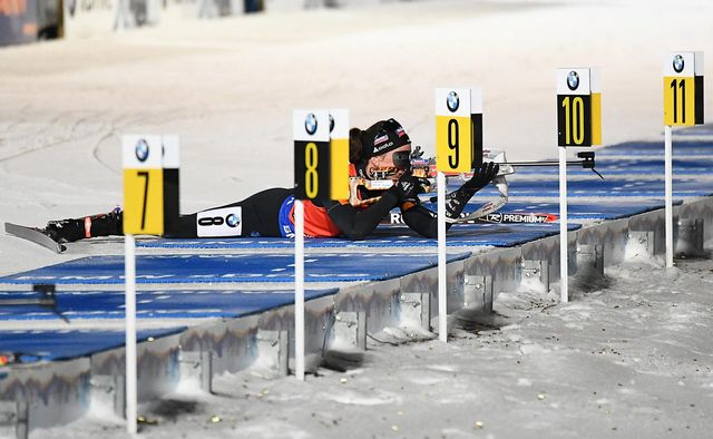 Biathlon, Sprint dames, Kontiolahti [KIMMO BRANDT - Keystone]