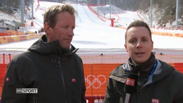 JO - Ski descente féminine: le point avec Romain Roseng et Patrice Morisod [RTS]