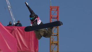 Big air, qualifications hommes: Jonas Boesiger (SUI) [RTS]