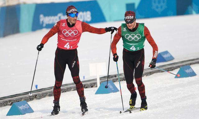 Roman Furger et Dario Cologna n'ont pu se mêler à la course aux médailles. [Filip Singer - Keystone]