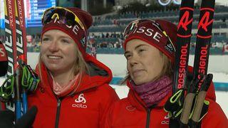 Sprint par équipe dames: la première réaction de Van der Graaff et Faehndrich après leur 4e place [RTS]
