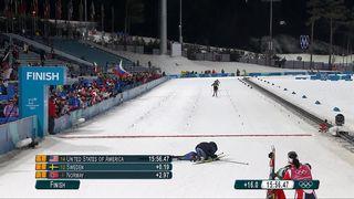 Sprint par équipes dames: les Américaines en or devant la Suède et la Norvège. La Suisse au pied du podium [RTS]