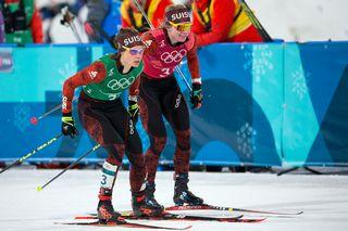 Les Suissesses ont décroché la 4e place en sprint par équipes. [Alexandra Wey - Keystone]