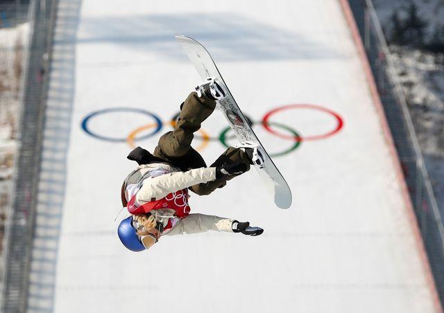 L'Autrichienne Anna Gasser remporte l'or grâce notamment à un dernier run parfait. [Kim Hong-Ji - Reuters]