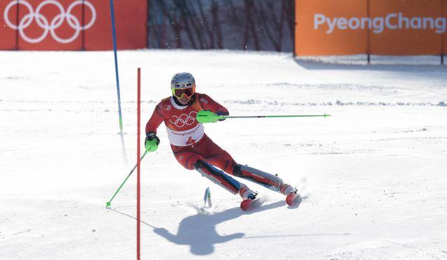 Kristoffersen pourrait apporter une 14e médaille d'or à la Norvège. [Klaus Techt - Keystone]