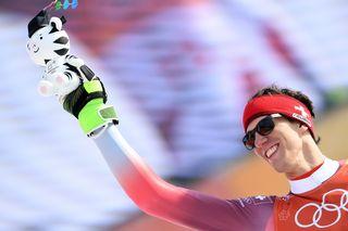 Ramon Zanhäusern, premier médaillé suisse en slalom aux JO depuis 1980. [Vassil Donev - EPA/Keystone]