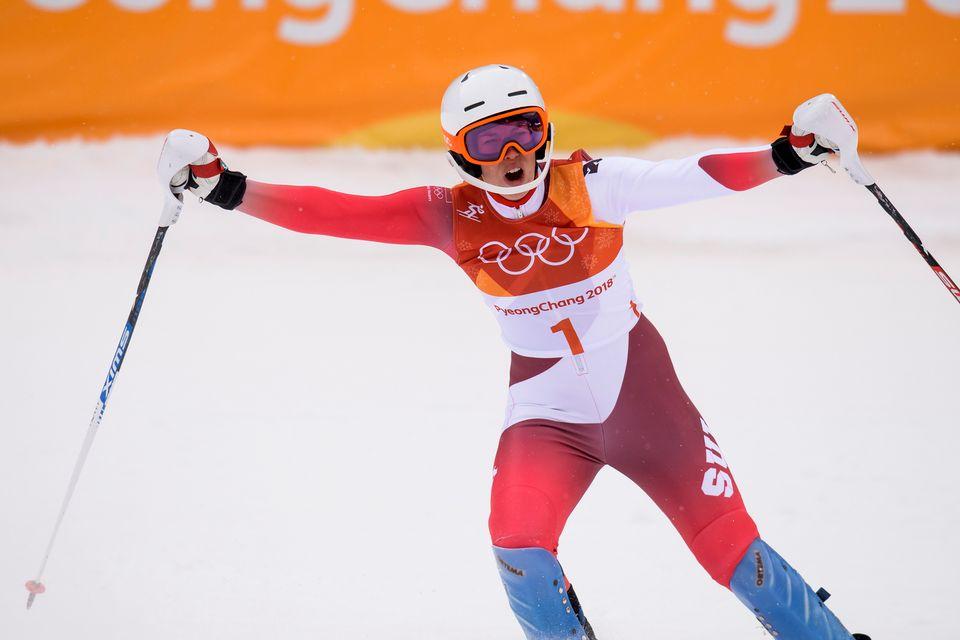 Michelle Gisin a créé une énorme suprise lors du combiné alpin. [Jean-Christophe Bott - Keystone]