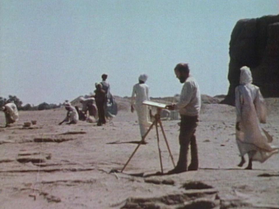 Equipe d'archéologues de l'université de Genève sur le site de Kerma, au Soudan. [RTS]