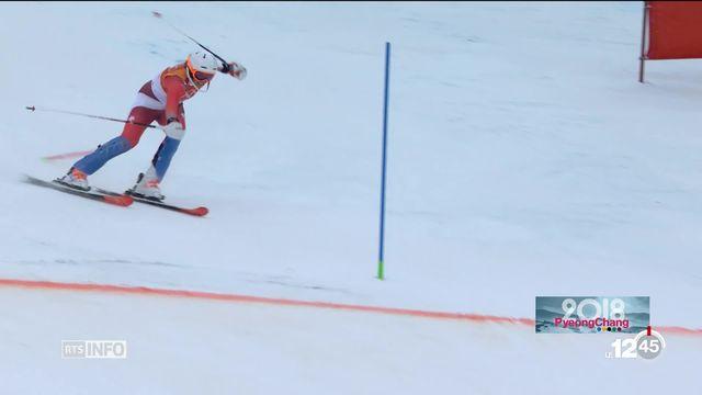JO PyeongChang: Michelle Gisin gagne la médaille d'or en combiné [RTS]