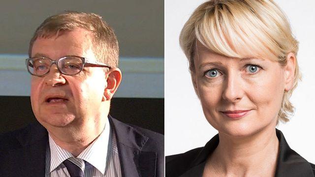 Markus Trutmann et Isabelle Moret. [Christian Beutler - vimeo.com/Keystone]