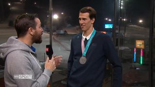 JO 2018 - Ski alpin: entretien de Ramon Zenhäusern, Médaillé d'argent slalom [RTS]
