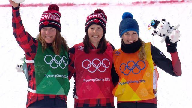 Skicross femmes : le podium avec la 3e place de Fanny Smith (SUI) [RTS]