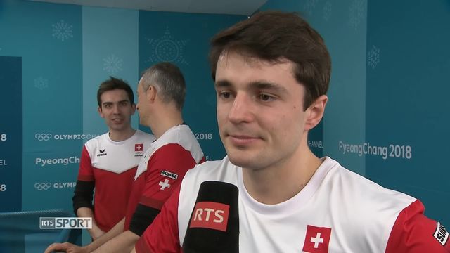 Match 3e place hommes, SUI-CAN 7-5: Peter de Cruz et Benoît Schwarz à l'interview après leur médaille [RTS]