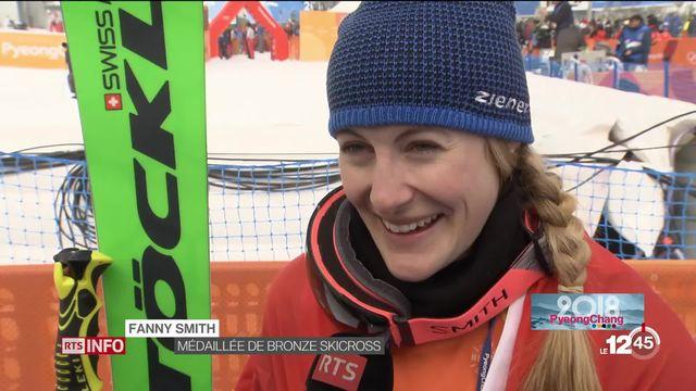 JO 2018 - ski cross: Fanny Smith remporte le Bronze [RTS]