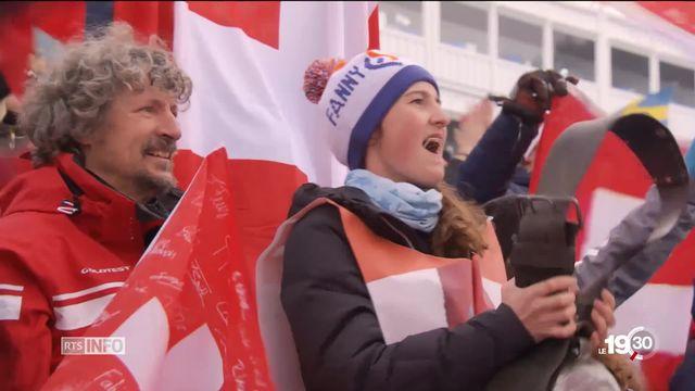 JO 2018 - ski cross: la famille de Fanny Smith était présente pour célébrer [RTS]