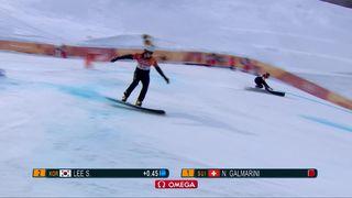 Slalom géant parallèle hommes, finale: le Suisse Nevin Galmarini est champion olympique ! [RTS]