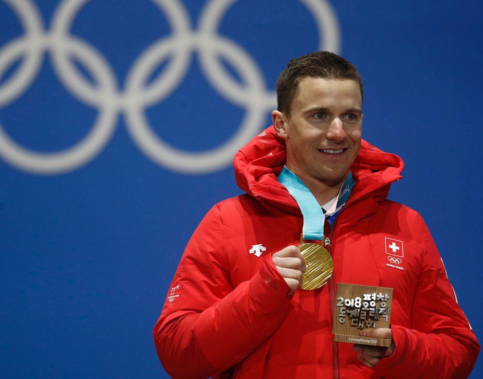 Deuxième à Sotchi, Galmarini est monté sur la plus haute marche du podium en Corée. [Patrick Semansky - Keystone]