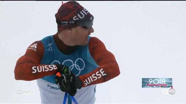 JO - Ski de fond: Dario Cologna manque d'énergie pour le 50 kilomètres [RTS]
