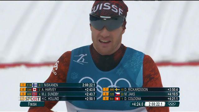 JO - Ski de fond: pas de médailles pour Dario Cologna au 50km [RTS]