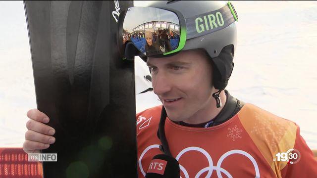 Jeux Olympiques: Galmarini, champion du slalom géant parallèle snowboard [RTS]