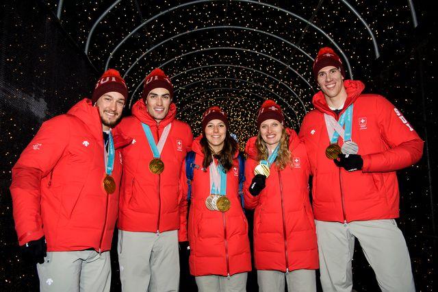 La Suisse a décroché l'or au Team Event. [Jean-Christophe Bott - Keystone]