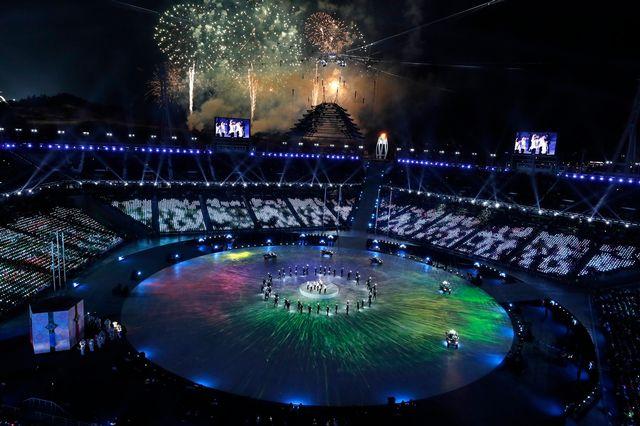 Les Jeux de PyeongChang sont terminés. Les yeux peuvent désormais se tourner vers Pékin 2022. [Sergeï Ilnitsky - Keystone]
