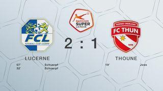 23e journée, Lucerne - Thoune 2-1: tous les buts de la rencontre [RTS]