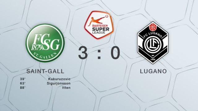 23e journée, St-Gall - Lugano 3-0: tous les buts de la rencontre [RTS]