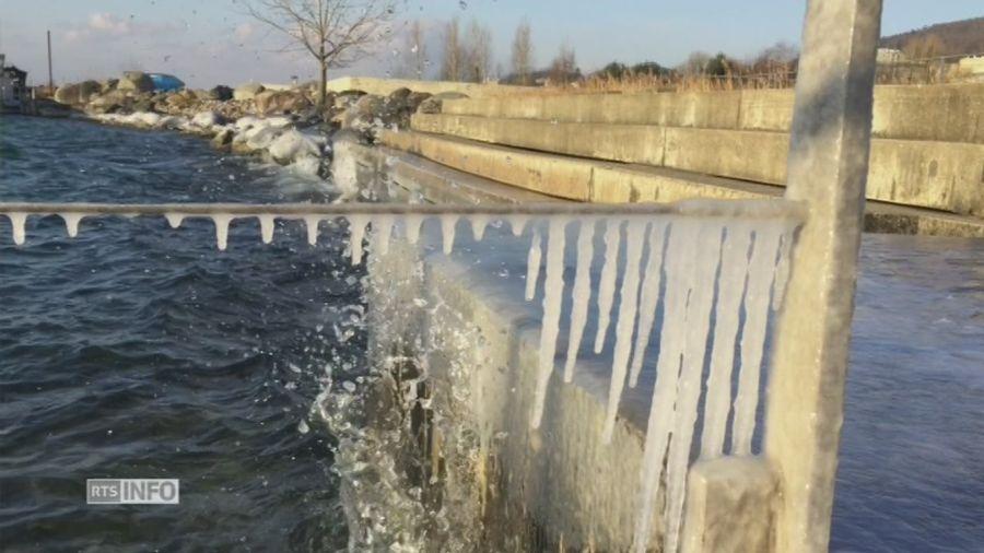 Le froid s'empare du lac de Neuchâtel