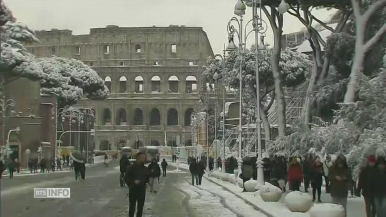 Rome est sous la neîge [RTS]