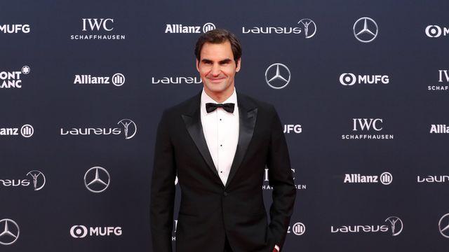 Roger Federer lors de son arrivée aux Laureus Sports Award à Monaco. [Sébastien Nogier - EPA/Keystone]