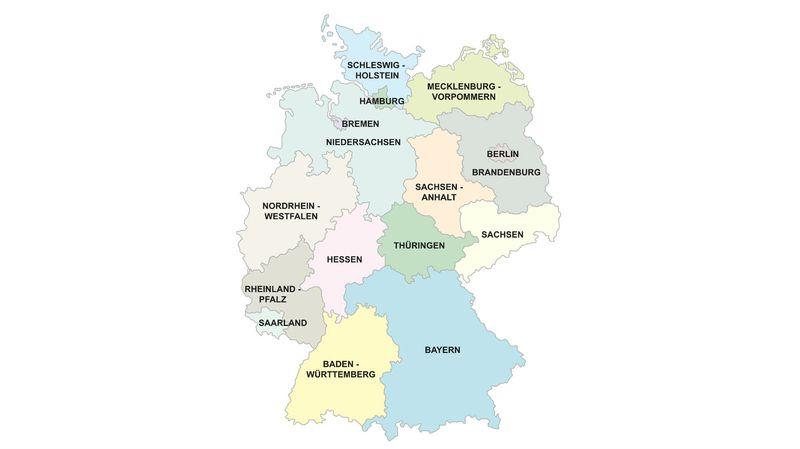 Carte Allemagne Pays Frontaliers.L Allemagne En Chiffres Rts Ch Le Systeme Politique Allemand