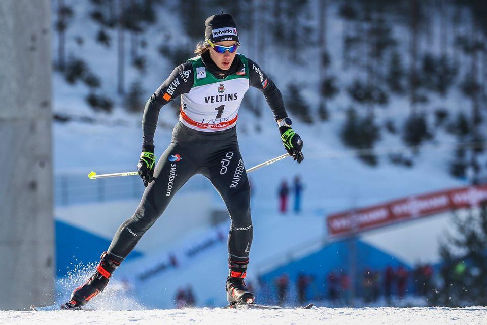 Laurien van der Graaff s'est classée 6e en Finlande. [Pekka Sipola - Keystone]