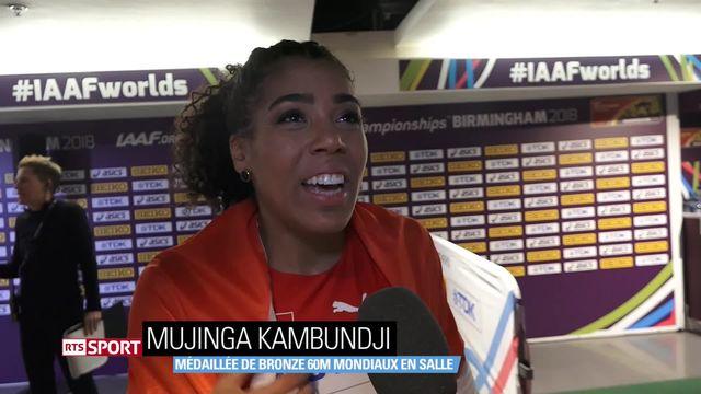 Athlétisme: Mujinga Kambundji bronzée aux Mondiaux en salle, Léa Sprunger disqualifiée [RTS]