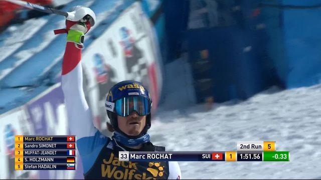 Kranjska Gora (SLO), slalom hommes, 2e manche: Marc Rochat (SUI) [RTS]