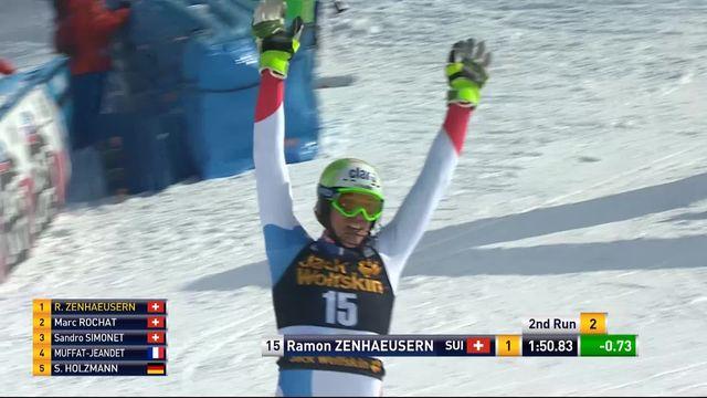 Kranjska Gora (SLO), slalom hommes, 2e manche: Ramon Zenhaeusern (SUI) [RTS]