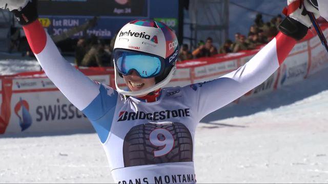 Crans-Montana (SUI), combiné alpin dames, 2e manche: Michelle Gisin [RTS]
