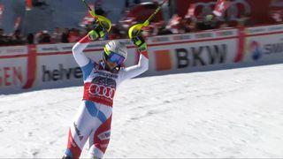 Crans-Montana (SUI), combiné alpin dames, 2e manche: Wendy Holdener (SUI) [RTS]