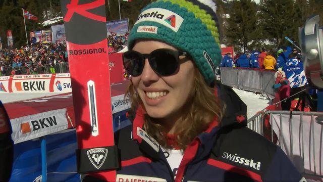Crans-Montana (SUI), combiné alpin dames, 2e manche: l'interview de Michelle Gisin (SUI) [RTS]