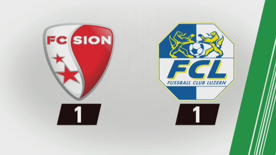24e journée, Sion - Lucerne (1-1): tous les buts [RTS]
