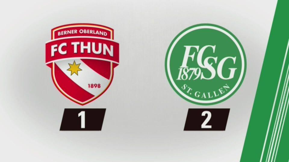 24e journée, Thoune - Saint-Gall (1-2): tous les buts [RTS]