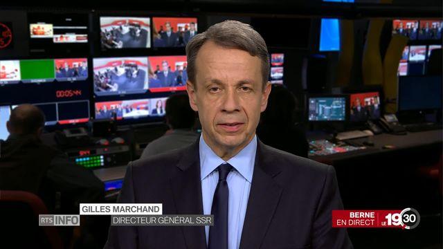 """""""No Billag"""": entretien avec Gilles Marchand, directeur général SSR [RTS]"""