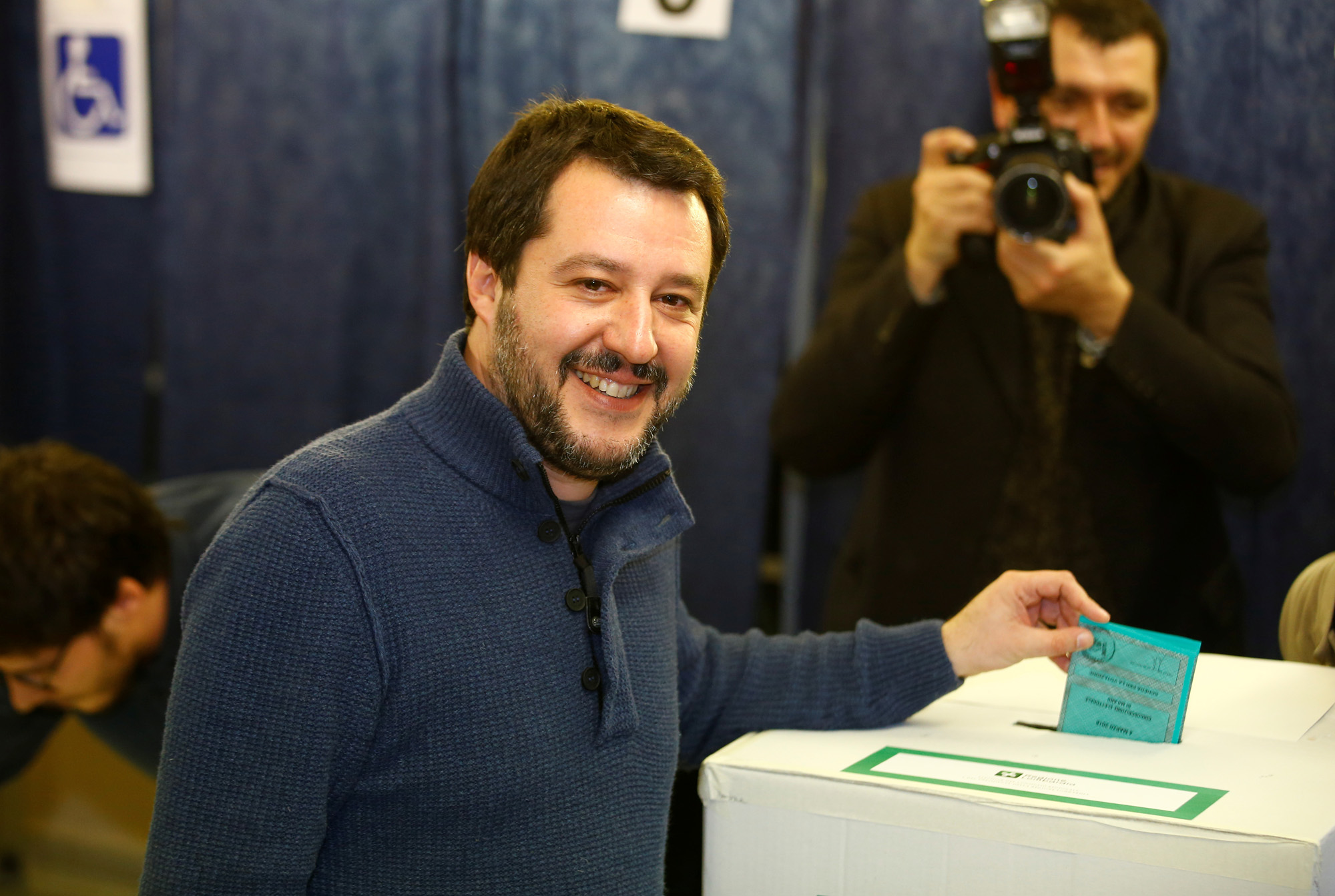Le leader de La Ligue Matteo Salvini.