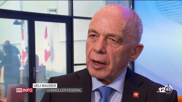 Régime financier: réaction d'Ueli Maurer [RTS]