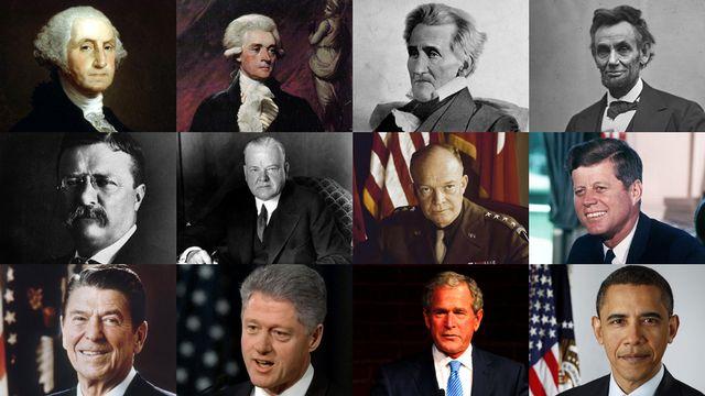 Douze des présidents américains. [Keystone]