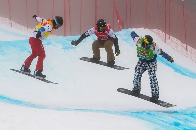 Coupe du monde Snowboard cross, par équipe [Jean-Christophe Bott - Keystone]